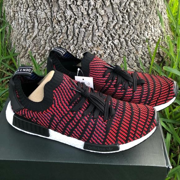 69201bb9ffaf Adidas nmd r1 stlt pk red black
